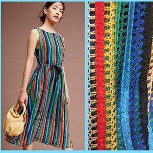 Eva Franco X Anthropologie Crochet Midi Dress